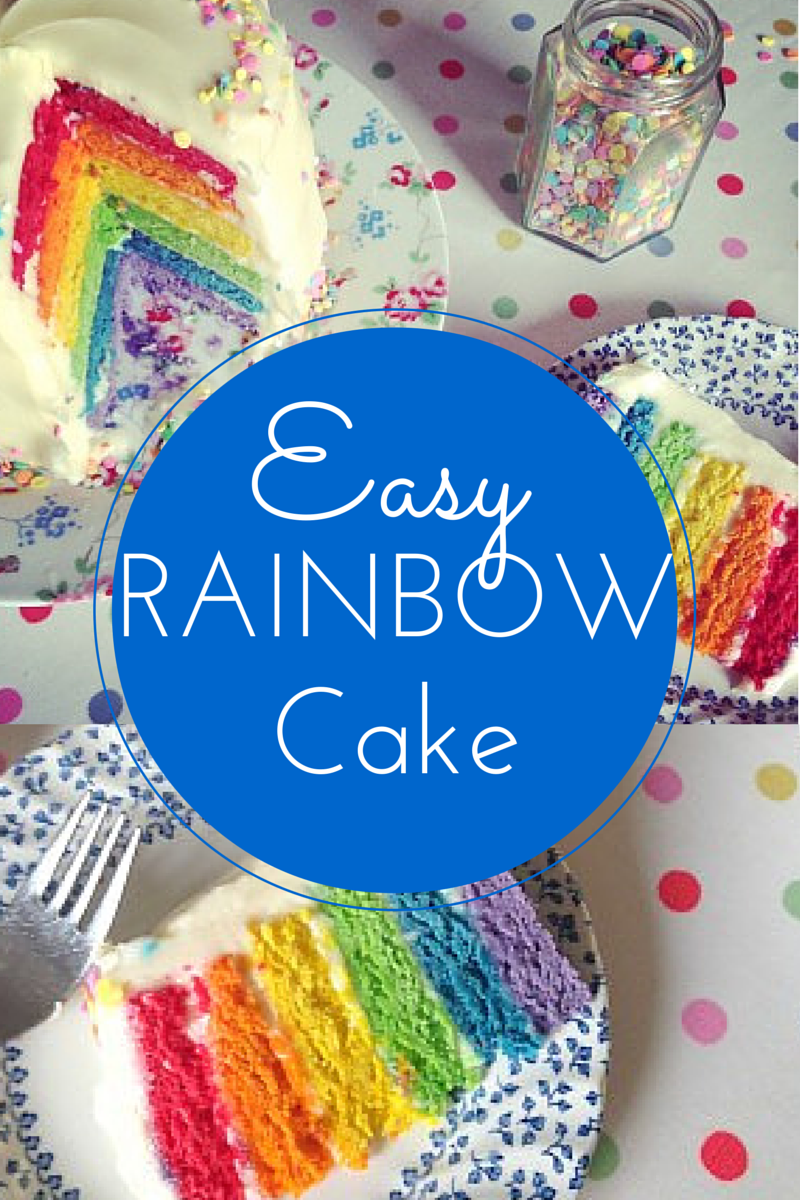 Cake Images Step By Step : Easy 6-Layer Rainbow Cake - Step by Step