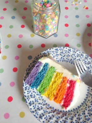 Easy 6 Layer Rainbow Cake - so simple with this tutorial!