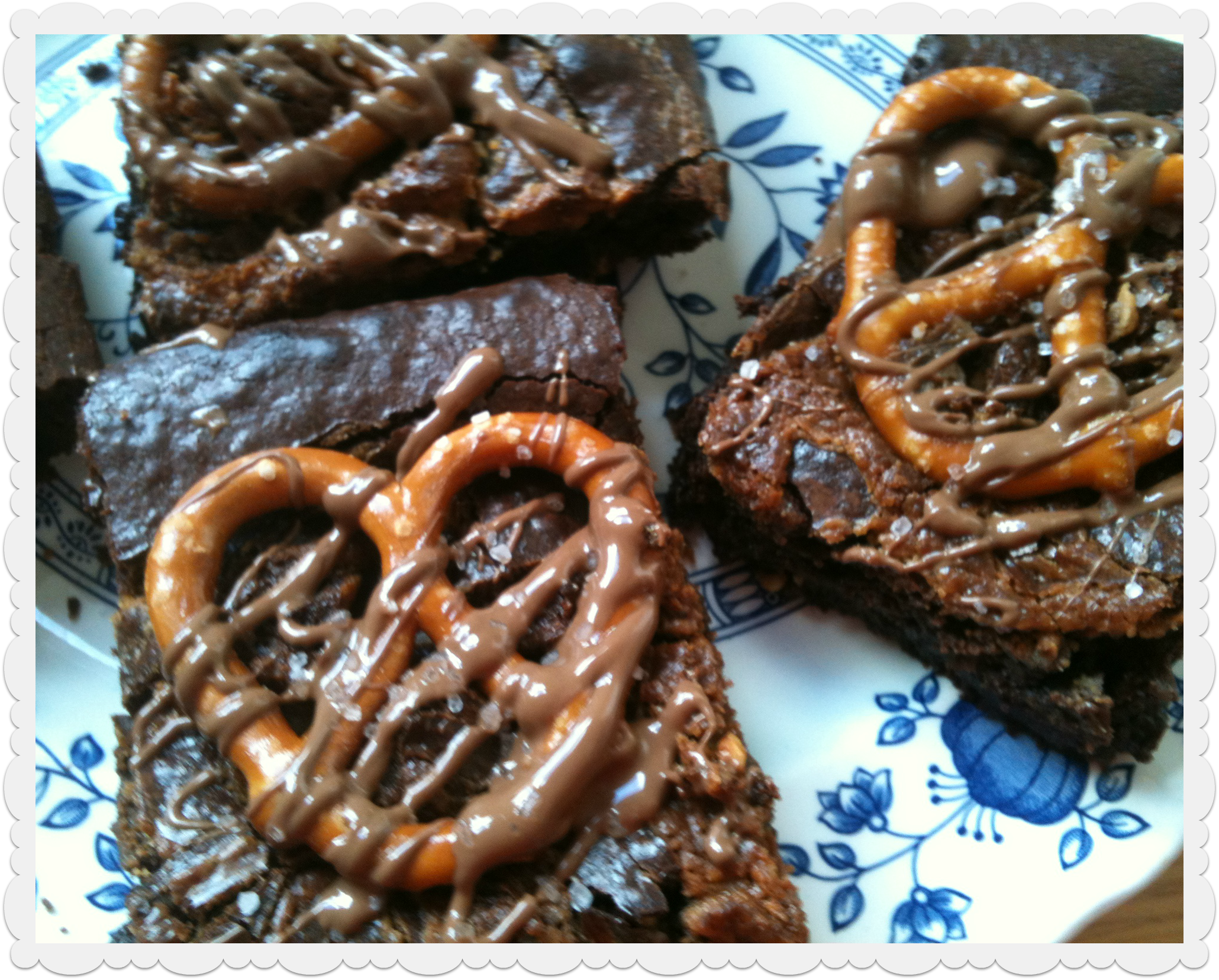 ... to make these Chocolate Fudge Pretzel Brownies with Peanut Butter