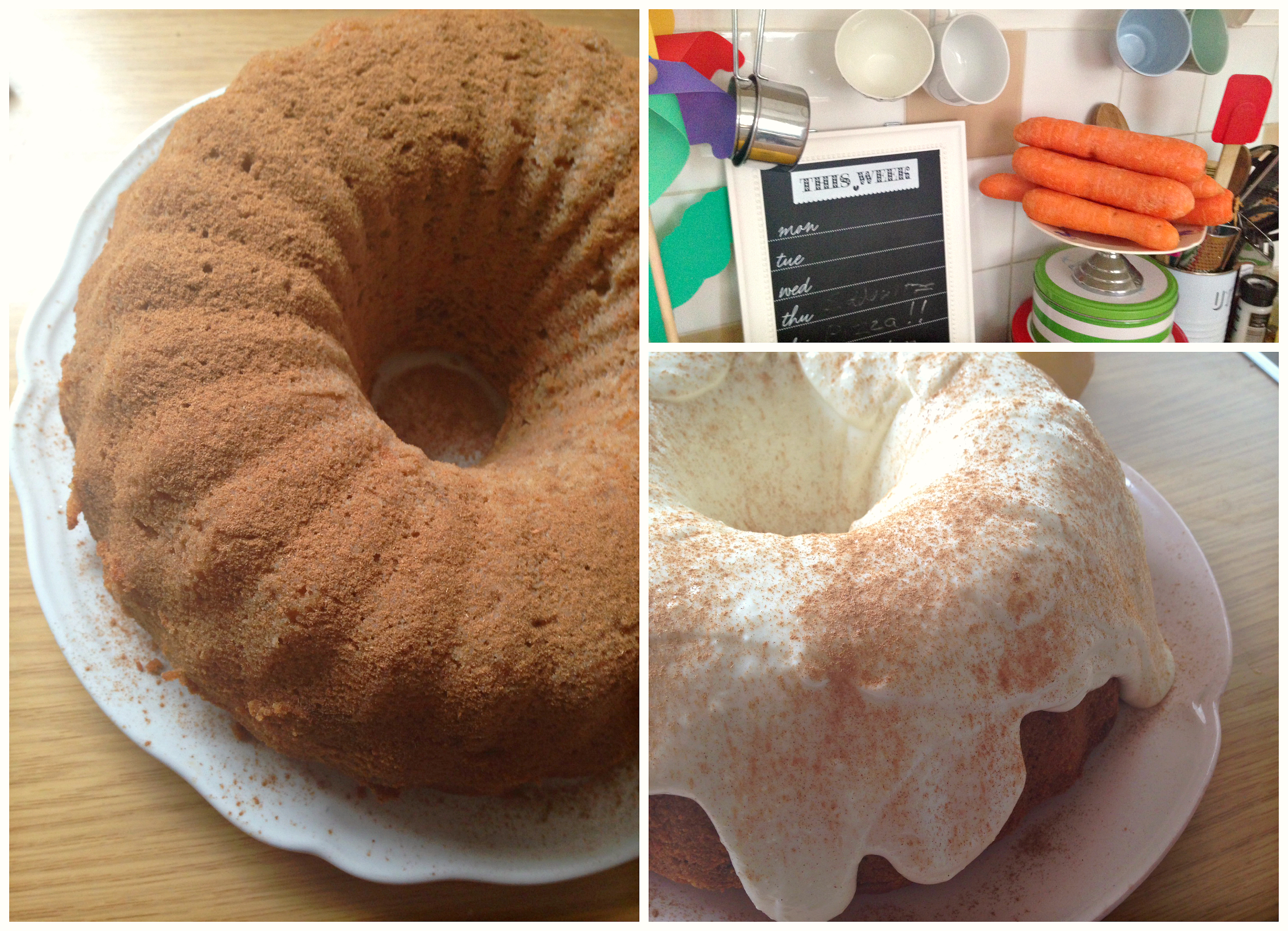 Carrot Bundt Cake with Cream Cheese Frosting