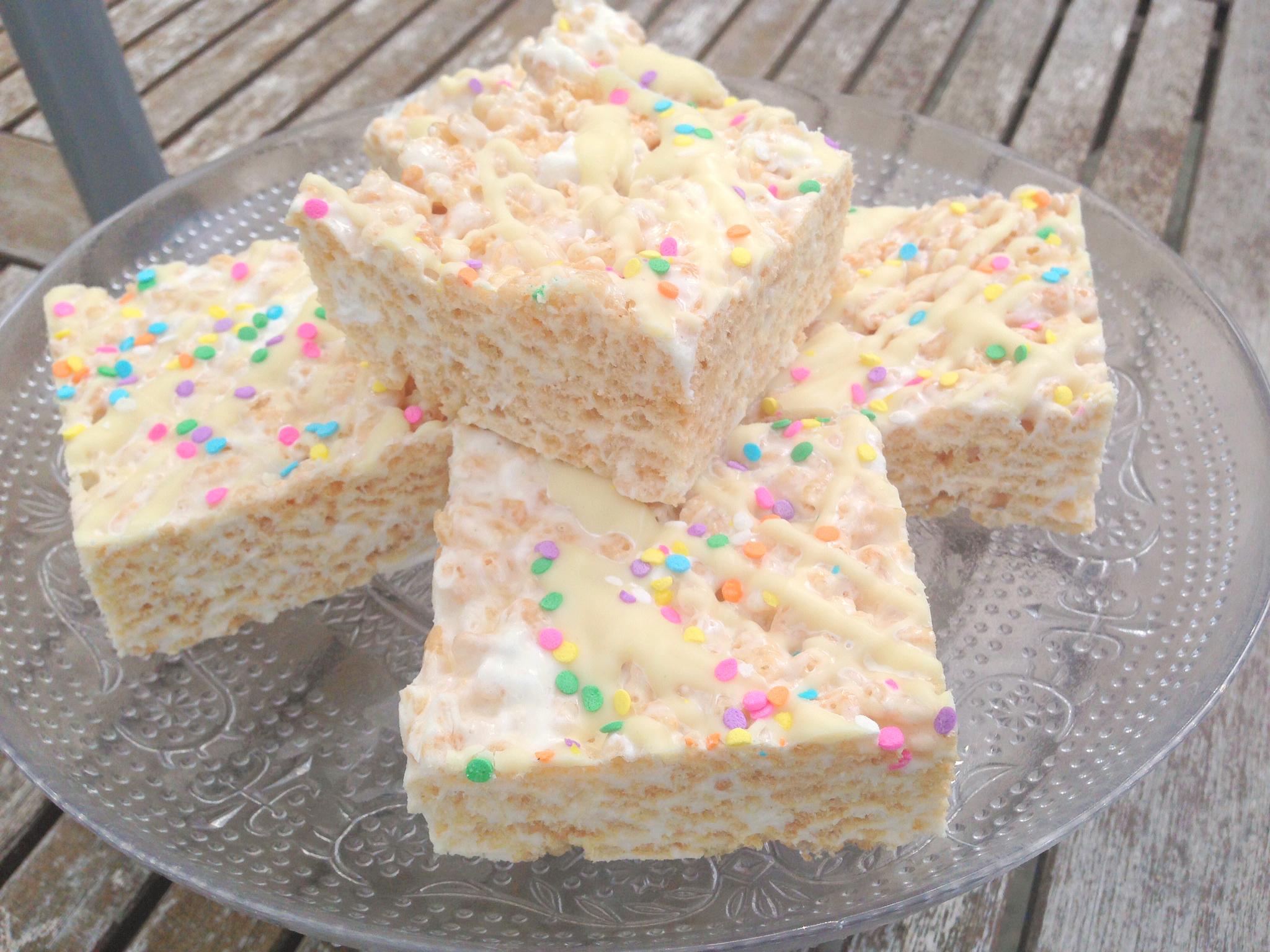 Jumbo Brown Butter Rice Krispie Marshmallow Treats - easy recipe at kerrycooks.com !