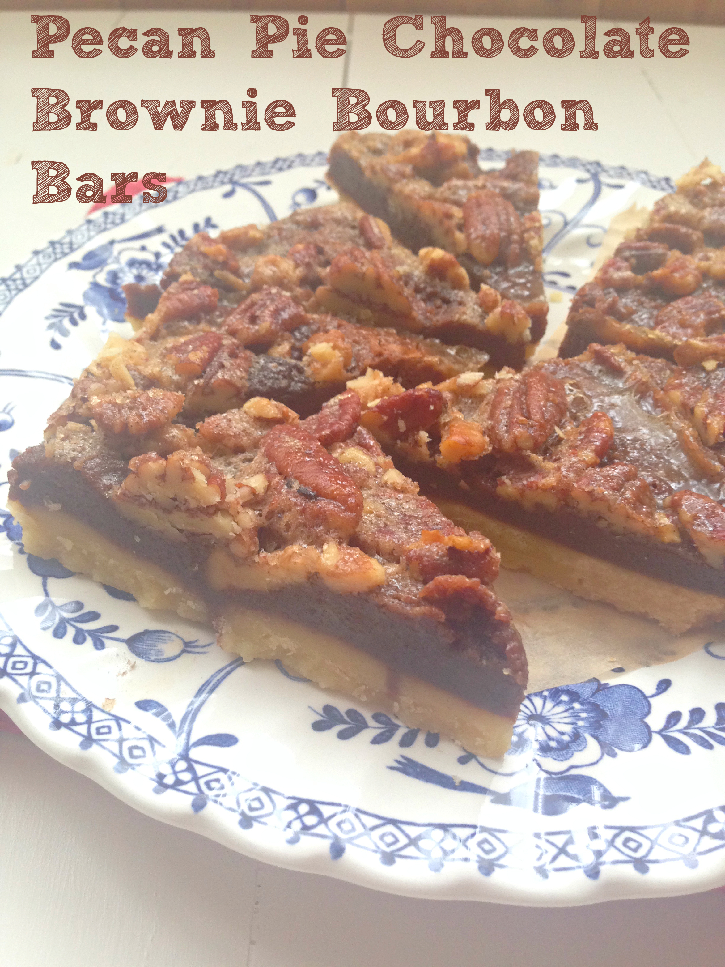 ... spiked pecan pie with a layer of gooey chocolate brownie! You have to