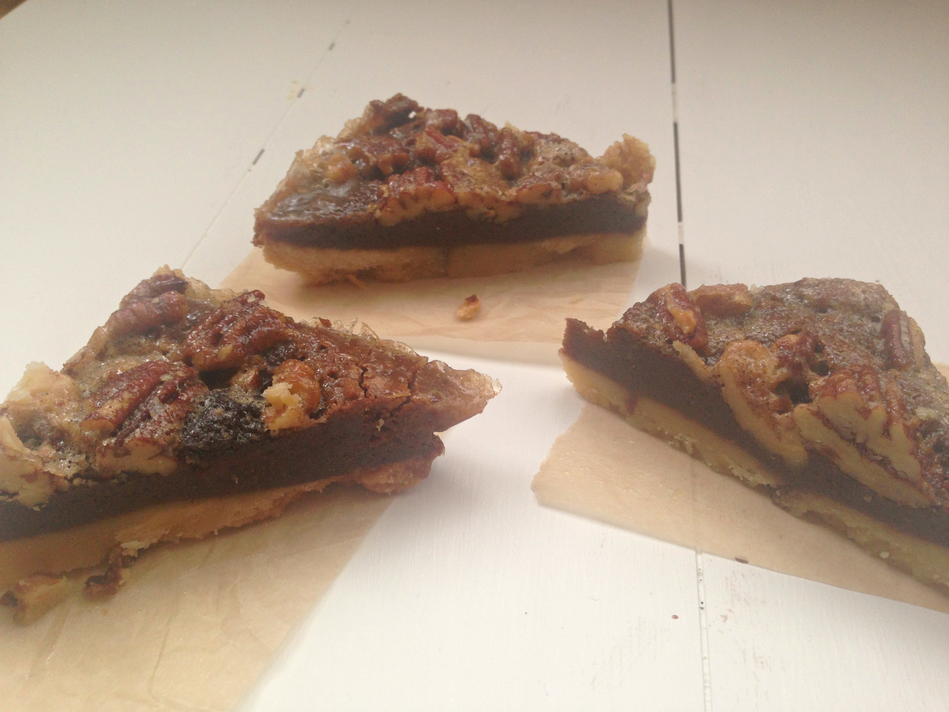 spiked pecan pie with a layer of gooey chocolate brownie! You have to ...