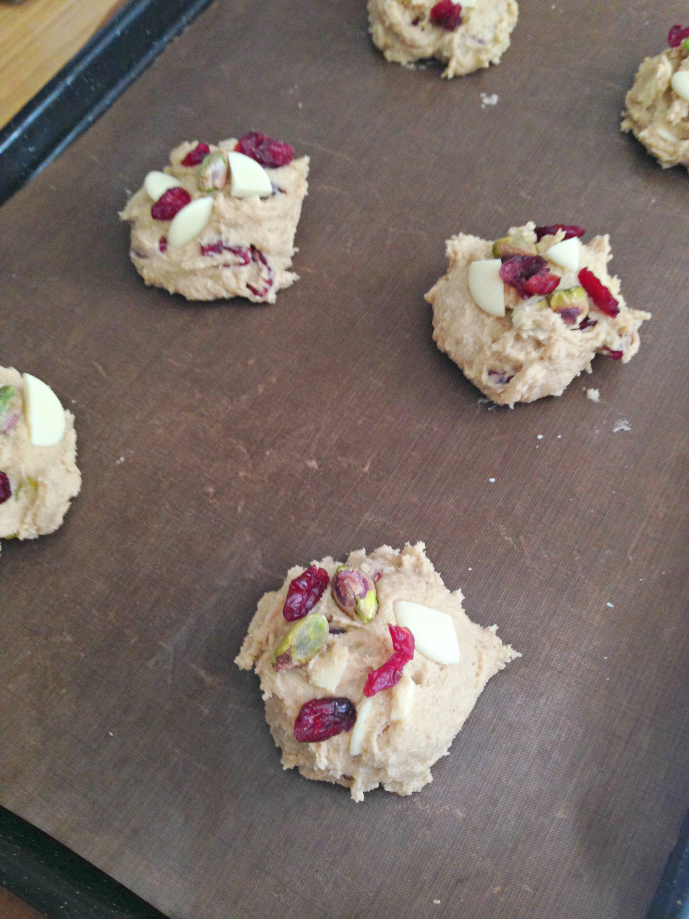 Cranberry, Pistachio and White Chocolate Cookies | kerrycooks.com
